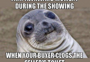 real estate meme - awkward seal moment