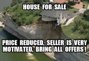 real estate meme - falling house