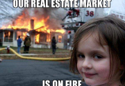 real estate meme - hot market