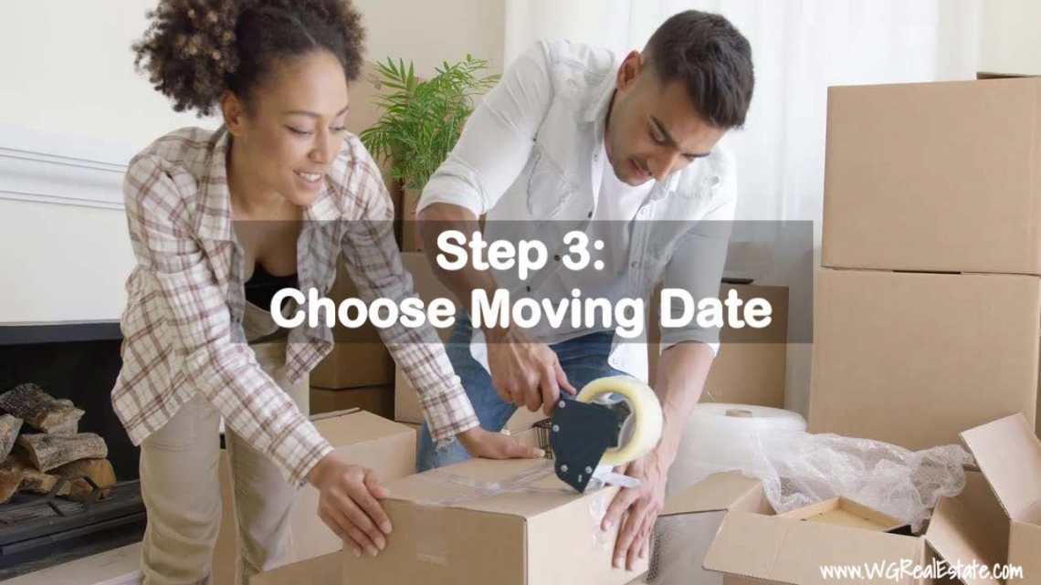 Step 3 - Choose Moving Date